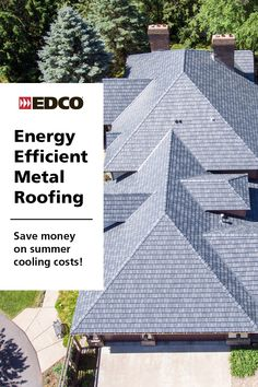 How would you like to never replace your roof again? Not only will you save on re-roofing costs, but a metal roof can save you up to 40% in summer cooling costs as well. Click the link to learn more. EDCO's maintenance-free roofing is backed up by the industry's only true lifetime, non-prorated limited warranty that includes labor and materials.