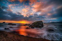 Eventide - Sunset at Mile Rock Beach, Lands End, San Francisco. http://ericphoto.com/