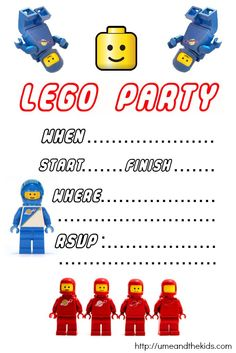 Lego City Birthday Invitations