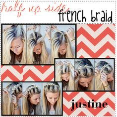 """""""half up side french braid"""" by the-amazing-tip-chickas on Polyvore"""