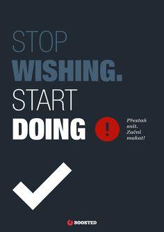 Motivační plakát Makej  (Anglicky/Česky)