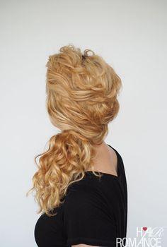 curly half up half down bridesmaid hairstyle