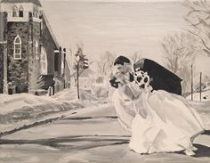 Jordan Ashley original - a painting I did from Kim & Derek's wedding. Creativity, The Originals, Couple Photos, Wedding, Painting, Couple Shots, Valentines Day Weddings, Painting Art, Couple Photography