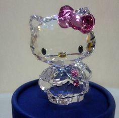 Hello Kitty Swarovski Cute Pink Ribbon!!