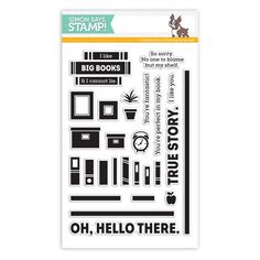 Simon Says Clear Stamps TO THINE OWN SHELF sss101452 Preview Image