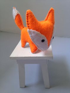 Welcome to the hidden woodland area of our kooky world! (ノ◕ヮ◕)ノ*:・゚✧  This petite felt fox doll figure is an original design that was hand cut, sewn and stuffed with cotton. A perfect little companion for any adult or child!  Keep in mind the picture listed above is a stock photo. Since all of my items are made completely by hand, your order might have slight differences, which makes them all the more precious (✿ ♥‿♥)  Each item is made with wool blend felt. Spot clean only with damp cloth…