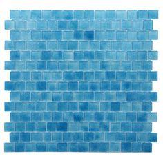 "Found it at Wayfair - Quartz 0.75"" x 0.75"" Mosaic Tile in Carnelian Blue"