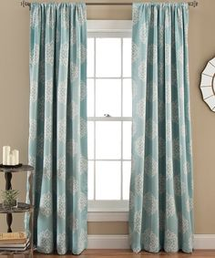 Take a look at this Blue Kristen Room-Darkening Curtain Panel - Set of Two today!