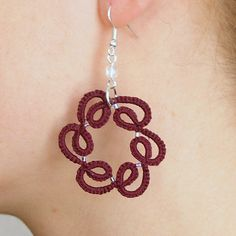 Whirlwind tatted earrings by Szigami, via Flickr
