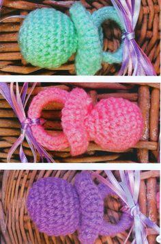 Todo crochet: Souvenires con forma de chupete con explicación pa...