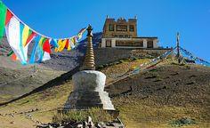 Stupa in front of Gyangdrag Gonpa (alt 5010m), Tibet by reurinkjan, via Flickr