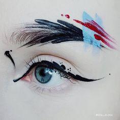 ideas painting face abstract make up Makeup Goals, Makeup Inspo, Makeup Inspiration, Make Up Art, Eye Make Up, Khol Eyeliner, Eyeliner Makeup, Eye Art, Fantasy Makeup