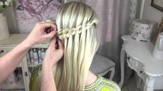 The Waterfall Scissor Braid with a Flower :) by SweetHearts Hair Design