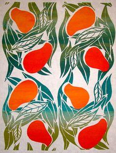 "Saatchi Art Artist Fern York; Printmaking, ""Mangos"" #art 23.6 H x 17.7 W $500"