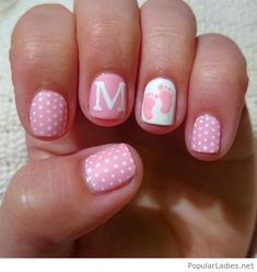 baby-girl-pink-and-white-nails