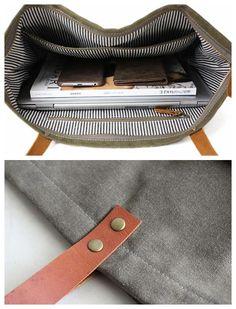 1e7d5e3a3d Handmade Canvas Tote Bag Messenger Bag Shopper Bag School Bag Handbag 14022
