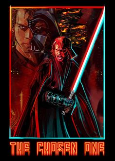 Artist Eli Hyder's 'The Chosen One' Anakin/Vader Crossover Design on Sale Now for Three Days - Star Wars News Net Star Wars Fan Art, Star Wars Film, Star Wars Saga, Star Wars Concept Art, Star Wars Poster, Anakin Skywalker, Anakin Vader, Darth Vader, Vader Star Wars