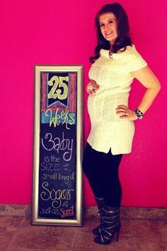 Chalkboard Pregnancy 25 Weeks: Sugar & Spice