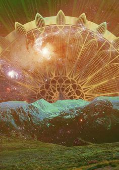 ♥ Cosmic Sun Sacred Geometry Art