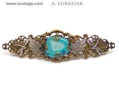 Blue Agate hair clipp by Invent-Art