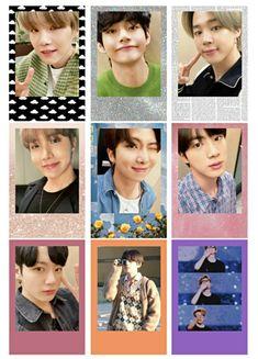 #bts #photocard #polaroid #army Foto Jungkook, Foto Bts, Bts Photo, Bts Taehyung, Pop Stickers, Printable Stickers, Bts Tickets, Korean Stickers, Bts Polaroid