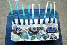 The Magnifying Glass mosaic menorah