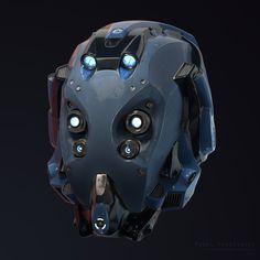 Sci-Fi Helmet, Pawel Ptaszynski on ArtStation at https://www.artstation.com/artwork/PGYEB