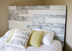 Pallet headboard white/grey pallet headboard wood