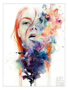 This Thing Called Art Is Really Dangerous Stretched Canvas Print by Agnes Cecile at Art.com