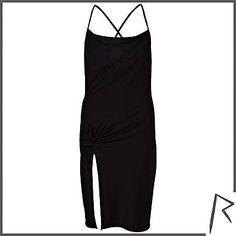 Black Rihanna knot front cami dress $100.00