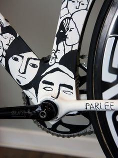 Parlee bike frame detail
