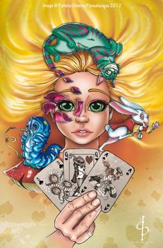 alice in wonderland art | Alice in wonderland COVER by ~ARTofPSP on deviantART