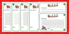 Letter to Santa Writing Template - A template for your children to use to write their own letters to santa. Great for developing independent writing in this topic and good fun too!