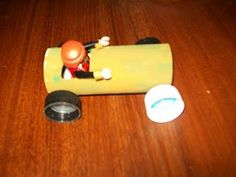 Recycled Toilet Paper tube race car
