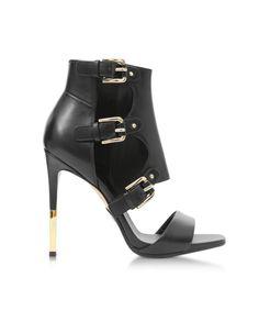 BALMAIN   Balmain Women's  Black Leather Sandals #Shoes #Sandals #BALMAIN