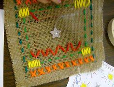 Zilker Elementary Art Class: 4th Grade Radial Stitchings