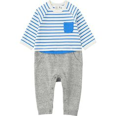 BABY COORDINATE LONG SLEEVE ONE PIECE OUTFIT | UNIQLO