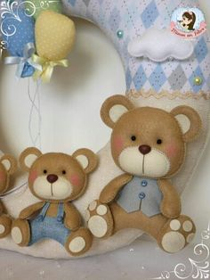 Image gallery – Page 394346511118938872 – Artofit Animal Sewing Patterns, Felt Patterns, Felt Crafts, Diy And Crafts, Bear Felt, Sans Art, Baby Shawer, Felt Decorations, Baby Store