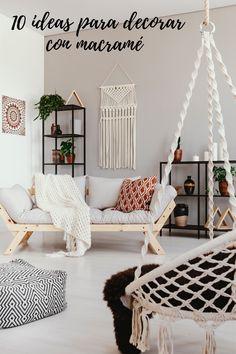 Tapices, maceteros, lámparas...Como conseguir darle un toque boho a tu hogar decorando con fantásticas piezas en macramé