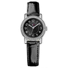 Tommy Hilfiger - Ladies\' Rose Stone Set Black Leather Watch - 1781474 - Online Price: £99.00