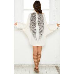 Autumn back angel wings print ice silk womens cardigan,Factory Price,Worldwide Free Shipping!