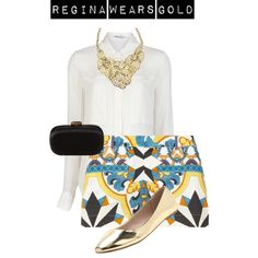 A fashion look from May 2013 featuring white long sleeve blouse, Philosophy di Alberta Ferretti and metallic flats. Browse and shop related looks. Ootd, Shoe Bag, Casual, Polyvore, How To Wear, Stuff To Buy, Accessories, Outfits, Shopping