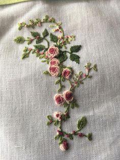 Silk ribbon embroidery kurti & silk ribbon embroidery tutorial, silk ribbon embroidery patterns, silk ribbon embroidery for beginners, silk ribbon embroidery art Ribbon Embroidery Tutorial, Floral Embroidery Patterns, Embroidery Bags, Hardanger Embroidery, Silk Ribbon Embroidery, Hand Embroidery Designs, Cross Stitch Embroidery, Embroidery Needles, Embroidery Supplies