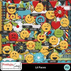 More than just a smile, emojis say exactly what you want using a simple way. Express yourself! Digital Scrapbook Paper, Scrapbook Pages, Photoshop Face, World Smile Day, Face P, Sad Faces, Flag Banners, Paint Shop, Photoshop Elements