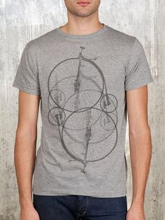 40 bday  Men's Penny Farthing Bike T-Shirt - Available in S, M, L, XL and 2XL. $22.50, via Etsy.