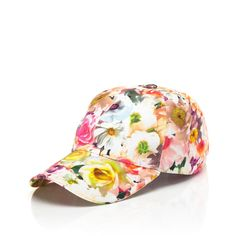 MSGM Floral Stamped Baseball Cap (140 CAD) ❤ liked on Polyvore
