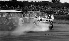 John Handley (15) swapping paint with Steve Neal at Silverstone 1969