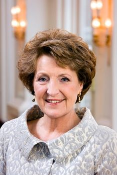 Her Royal Highness Princess Margriet of the Netherlands, Princess of Orange-Nassau, Princess of Lippe-Biesterfeld, Mrs Van Vollenhoven.  Princess Margriet Francisca of the Netherlands, born 19 January 1943, is the third daughter of Queen Juliana and Prince Bernhard of the Netherlands. She is aunt of the King.