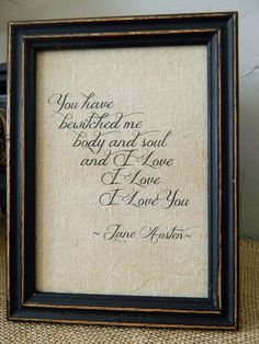 Jane Austen Print  Quote from Pride and  by BluffPointFolkArt