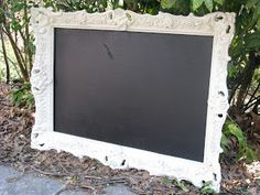 before and after: thrift store find to fancy chalkboard